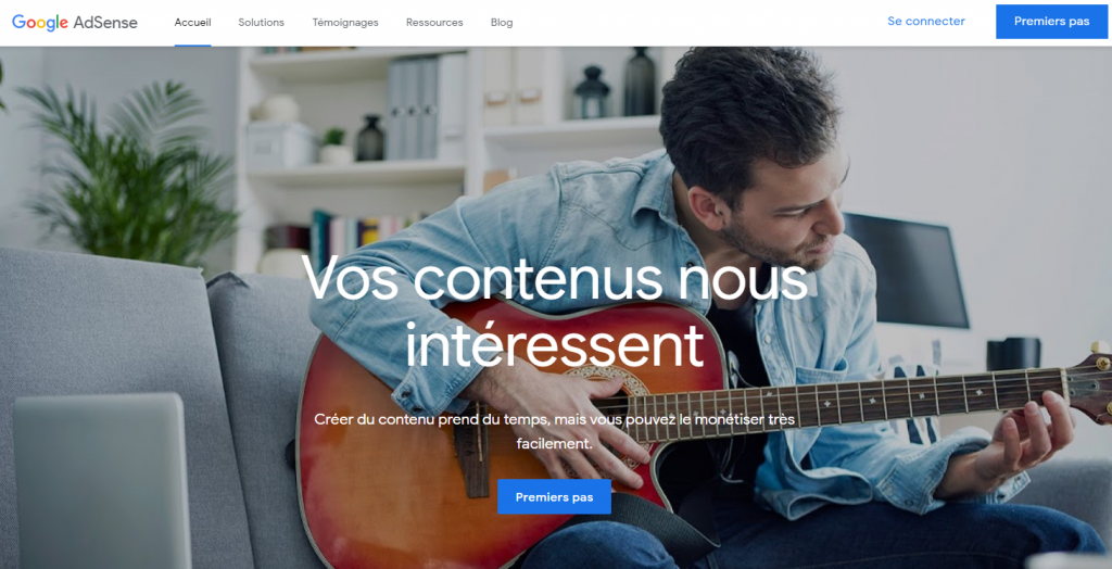 Avec Google Adsence vous pouvez gagner de l'argent à domicile